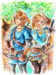 Link and Zelda- Breath of The Wild