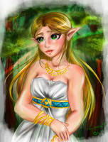 Breath of the Wild-Princess Zelda- Silent Princess by Laurence-L