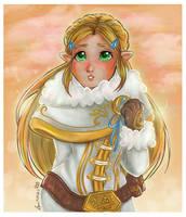 Princess Zelda- Winter Cloths by Laurence-L