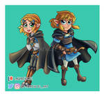 Zelda and Link Botw 2 - Stickers - by Laurence-L