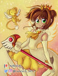Sakura and Kero - CardCaptor Sakura by Laurence-L