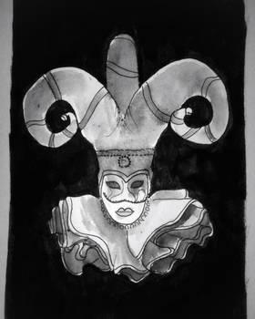 Inktober Day 31: Mask