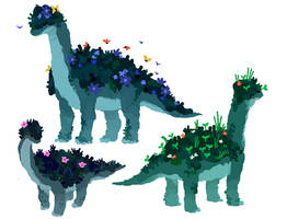 Moss Brachiosaur by Mossworm