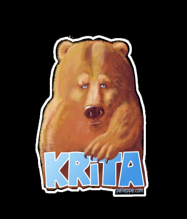 Krita-shop Bear by peileppe