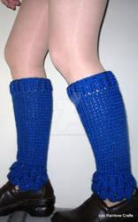 Scrumptious Sparkly Blue Dragon Leg Warmers