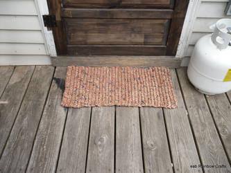 Plarn door mat