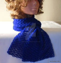 Crochet Icy Royal Blue Scarf