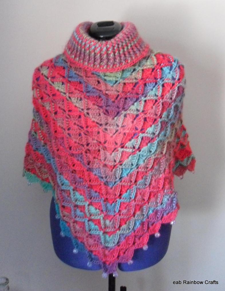 Turtle neck bavarian stitch poncho by eabRainbowCrafts on DeviantArt