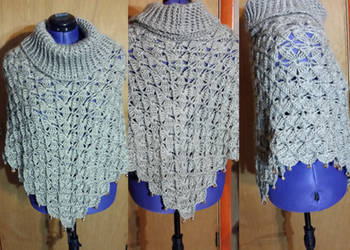 Bavarian Crochet Turtleneck poncho