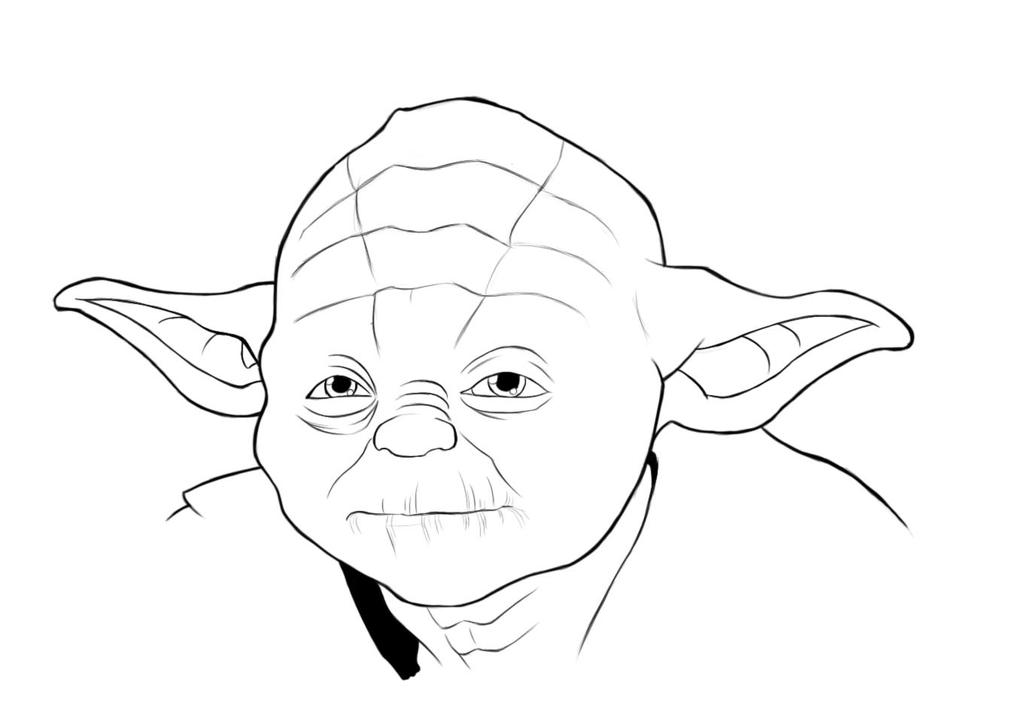 Star Wars  Yoda by TheVioletPandaYoda Face Drawing
