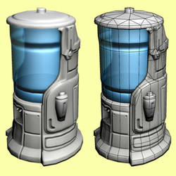 Futuristic Water Dispensor WIP by 0202742