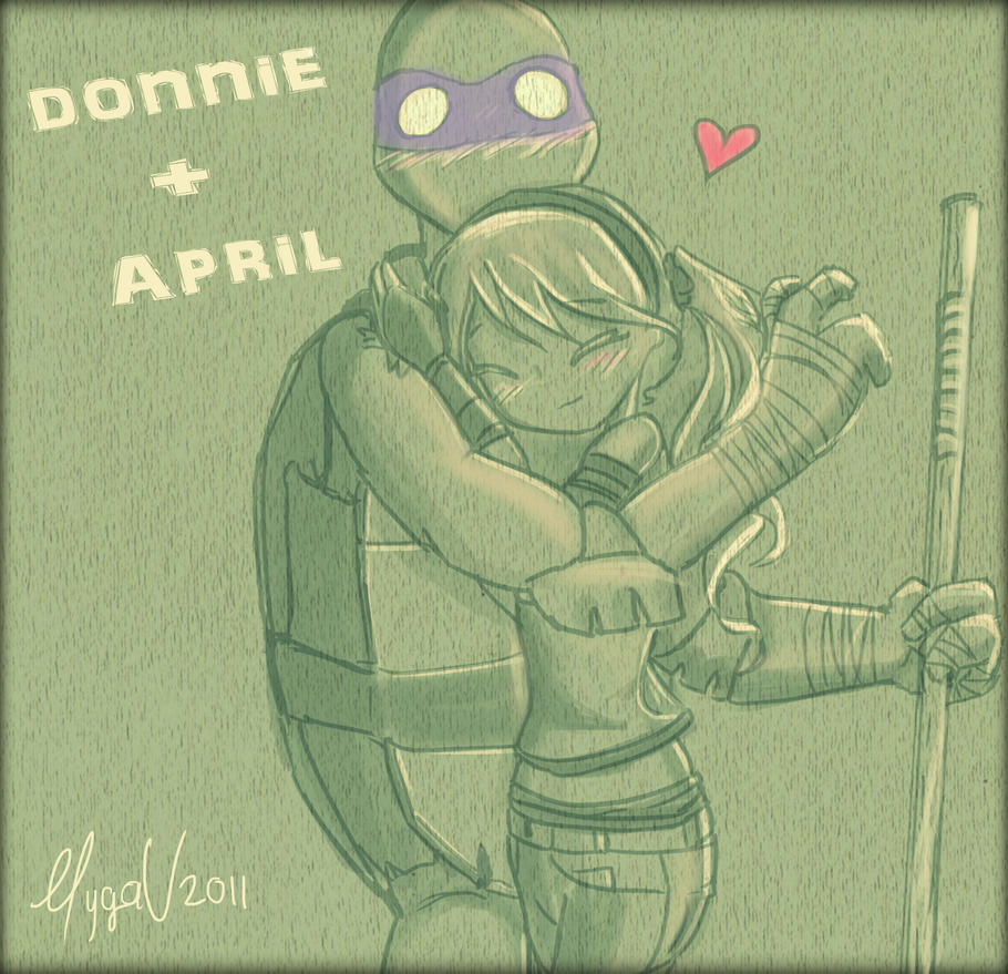 Donnie and April TMNT! by MygaV2011