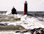 Grand Haven Light House another stomy day