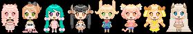 pixel avatars batch by SuzukiMikan