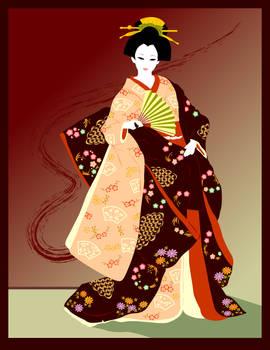 kimono lady