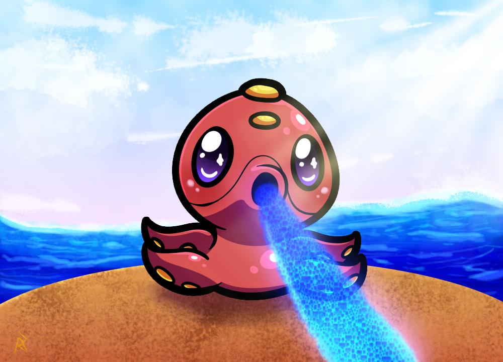 Chibi Octillery by nekonxra