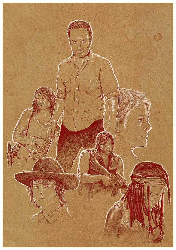 The walking dead (variant) by SixPixeldesign