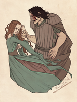 Little Bird and the Hound by cut-box