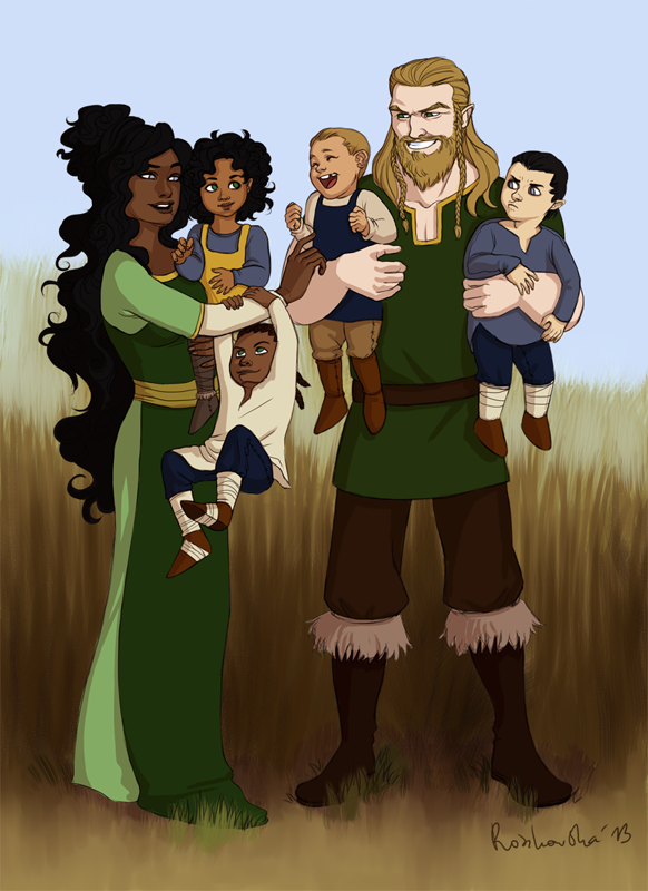 Commission: Viking Family by cut-box on DeviantArt