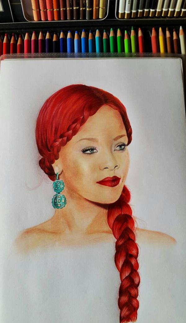 Red Rihanna by ThresaDory