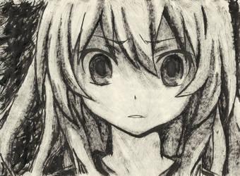 Taiga Aisaka [INK Portrait] by SprinkleSprankles
