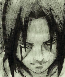 Itachi (Smile) [INK Portrait] by SprinkleSprankles