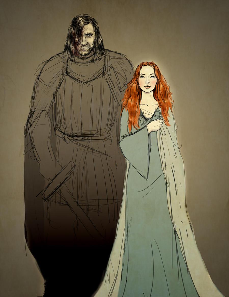 Sandor and Sansa - sketch by Emmanation on DeviantArt