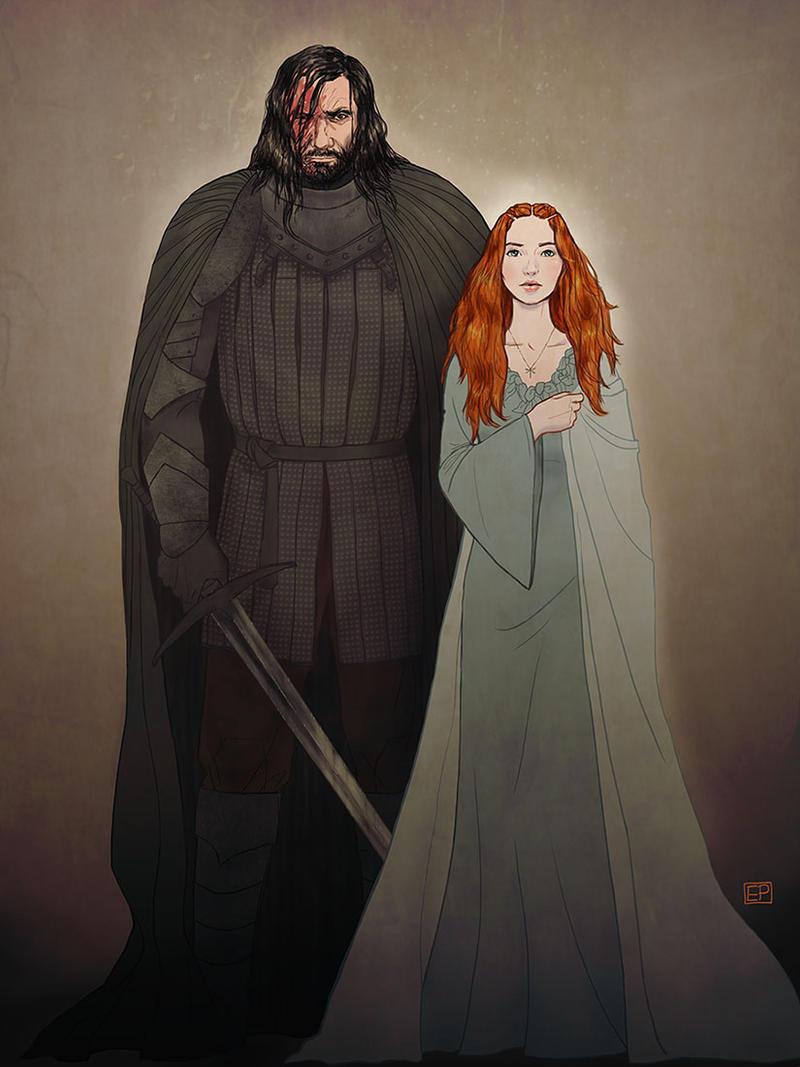 Sandor and Sansa v2 by Emmanation on DeviantArt