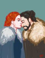 Jon and Sansa 2 by Emmanation