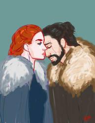 Jon and Sansa 2