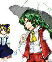 PC98 Alice and PC98 Yuuka by blameshiori