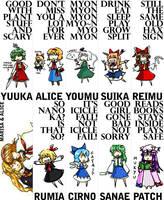 Touhou bookmarks by blameshiori