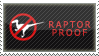 'raptor proof' stamp by streamline69