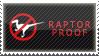 'raptor proof' stamp