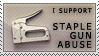 'staple gun abuse' stamp by streamline69