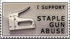 'staple gun abuse' stamp
