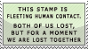 'human contact' stamp by streamline69