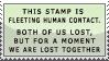 'human contact' stamp