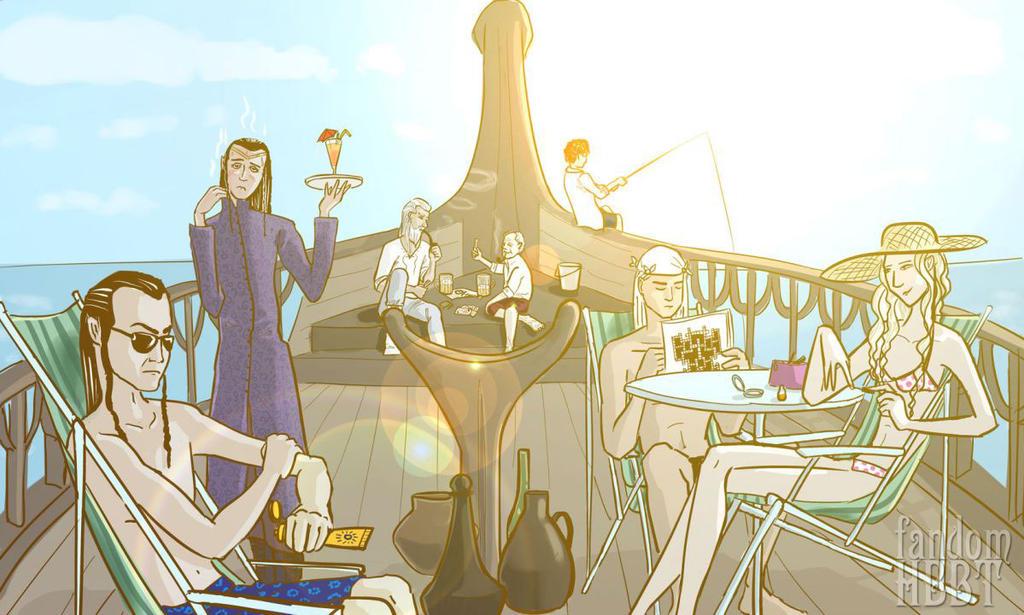 Sailing To Valinor by mercury-san
