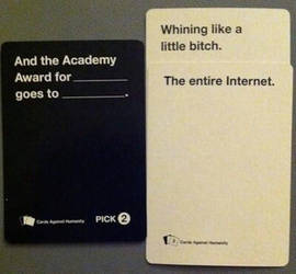 Cards Against Humanity getting it right.