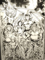Gargoyles by gunzaku56