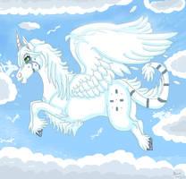Flying Unicorn by dragonrace