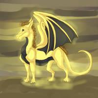 Gold dragon by dragonrace