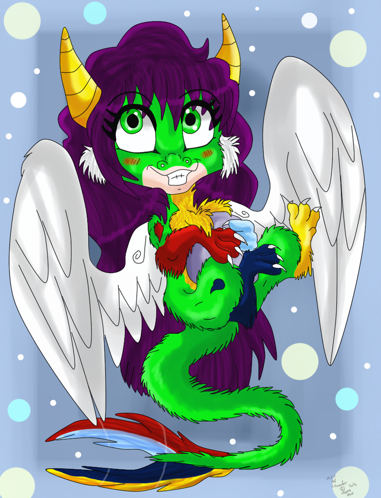 Chibi dragon by dragonrace