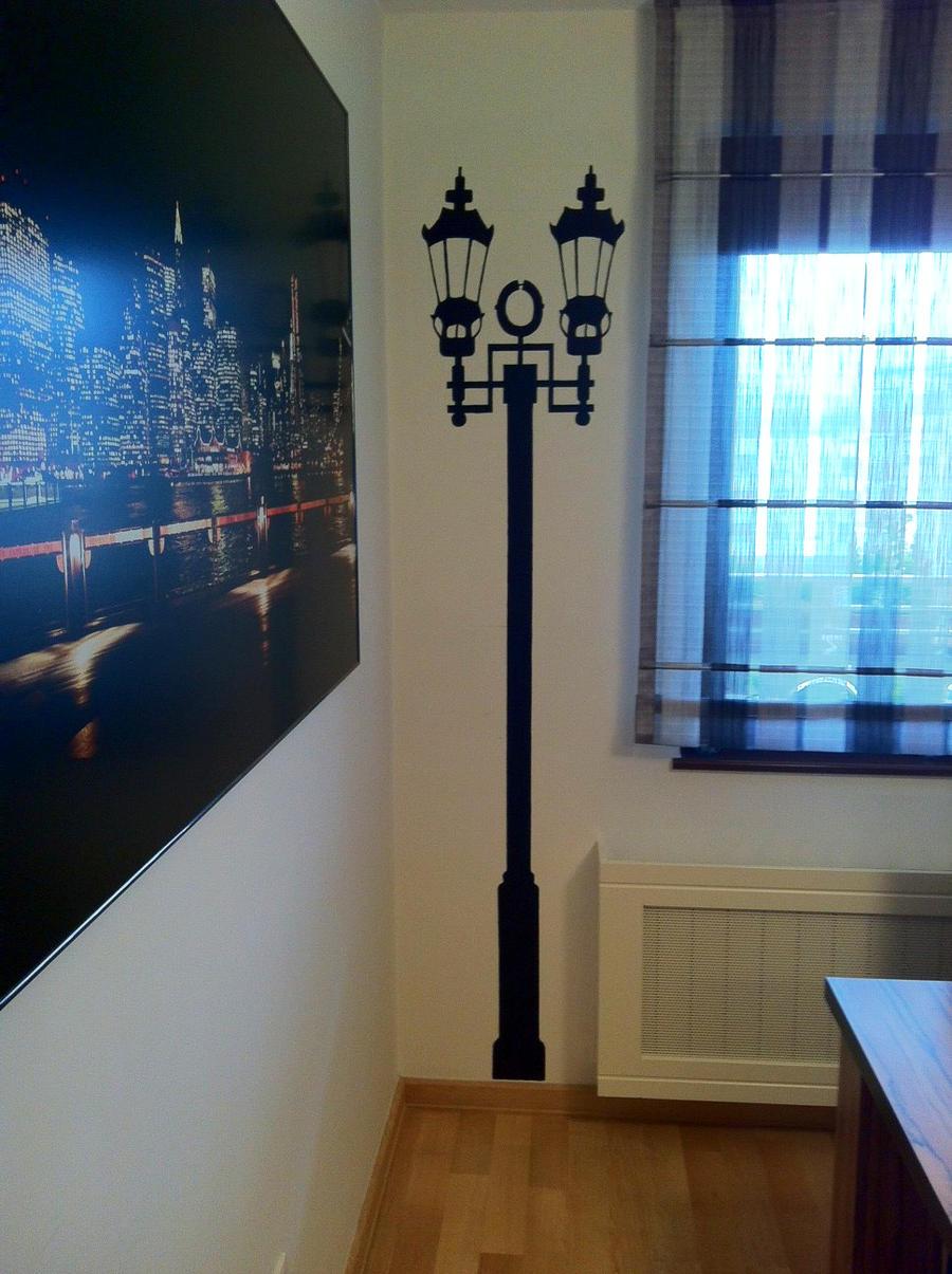 Lamp mural by Sikorax