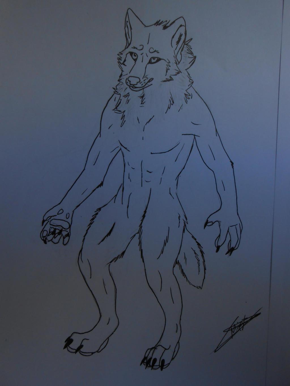 Anthro-wolf male by BlastOfWinter