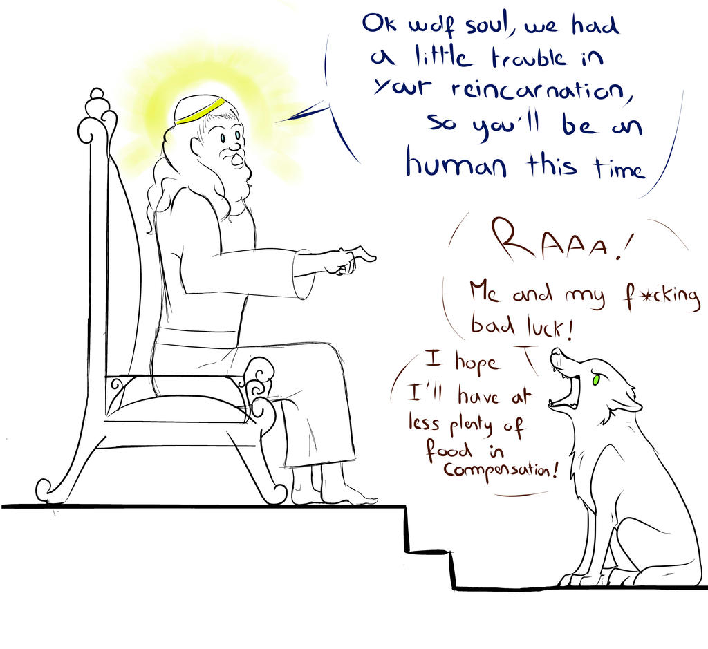 God prank the wolf by BlastOfWinter