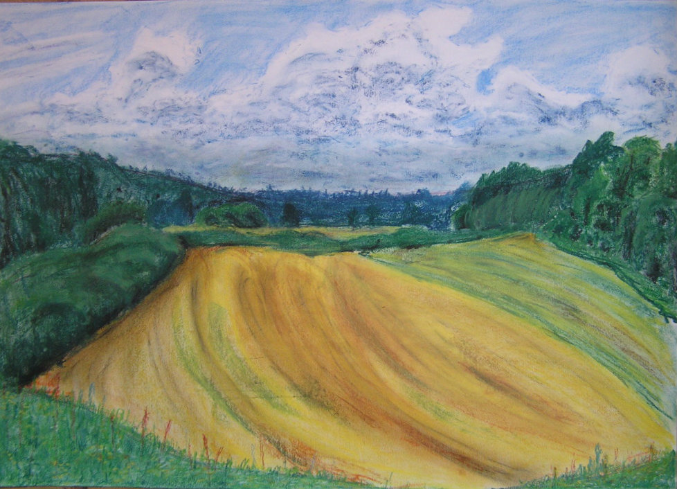 countryside in summer by watari-yumiko