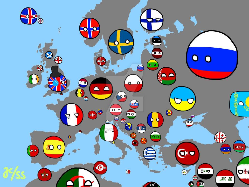 Polandball Map Of The World 2017.Polandball Map Europe Advanced By S Shookyivsky On Deviantart