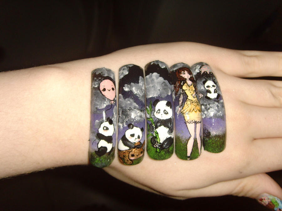 Panda nail art tutorial by mesiaszciszy on deviantart panda nail art tutorial by mesiaszciszy prinsesfo Image collections